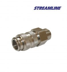 Female Microbore Coupling with Male Thread