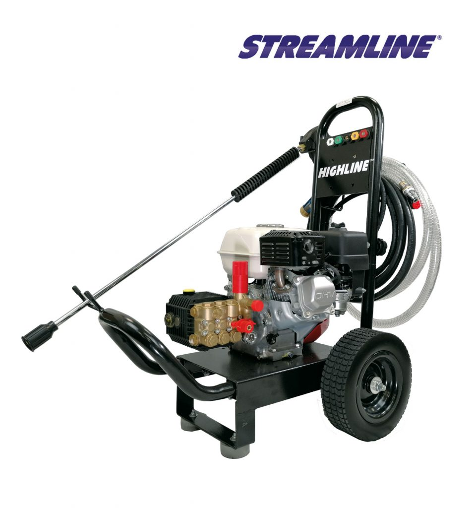 Highline™ Honda Petrol Powered Trolley Mounted Pressure Washer, 12Lpm 150Bar