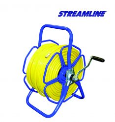 Freestanding metal hose reel - HRM2, complete with 100mtr of 8mm hose and couplings