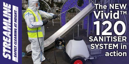 The VIVID™ 120 SANITISING TROLLEY in action