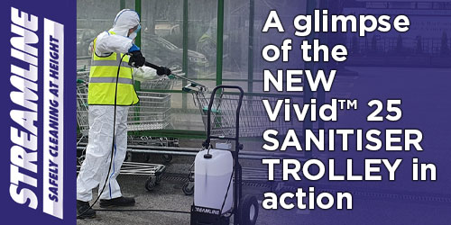The Vivid™ 25 SANITISING TROLLEY in action