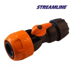 Nylon Female Connector with Tap for 12mm hose