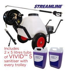 VIVID™ 120 External Sanitiser / Disinfectant Barrow Kit including 2 tubs of VIVID™ 5 Sanitiser