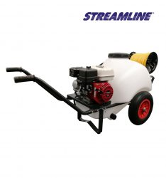 120-ltr Honda powered Softwash Barrow with chemical resistant pump and hose reel
