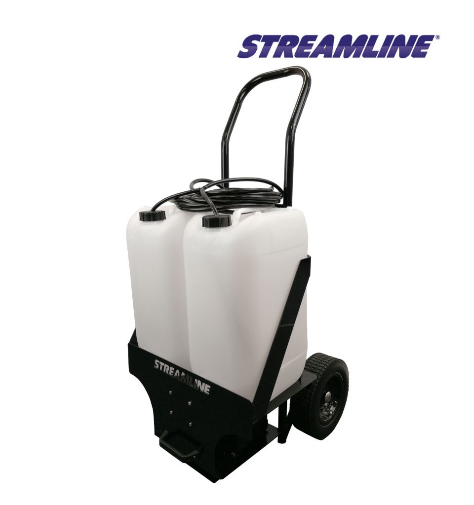 50-ltr Battery powered Softwash Trolley with digital controller, lithium battery and charger